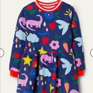 NWT Mini Boden Printed Sweatshirt Dress